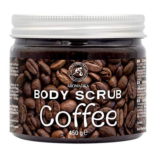 Kaffee Körperpeeling 450g - Natur Kaffee Body Peeling - Feuchtigkeitsspendend - Reduziert Cellulite - Reich Meersalzmineralien - Körperpflege - Antioxidans Schrubben