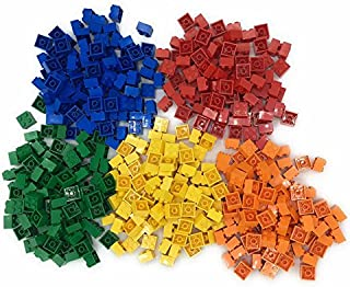 Lego 2x2 Bricks, 500 Count, 100 of each color:(red, Orange, Yellow, Green, Blue)