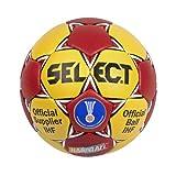 Select - Balón de balonmano (réplica del Official Ball IHF de la selección española masculina de 2013), color rojo y amarillo, color - - red/yellow, tamaño 1