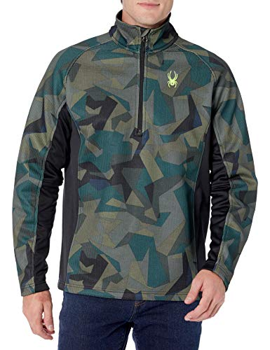 Spyder Men's Outbound Novelty Mid Weight Stryke Jacket, Guard Camo Print/Black, Large
