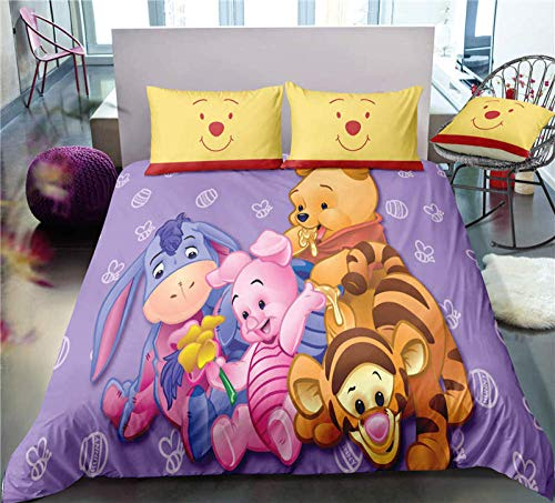 Gvvseso 3 Piece Comforter Set double 3D Cartoon animal tiger Bedding All-Season Reversible Quilted Duvet for Teen Girls Women - Soft and Comfortable - Machine Washable, 200 x 200 cm -Adult bedroom b