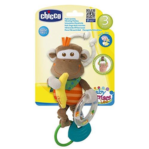 Chicco Scimmietta Prime Attivita' Trillo Sonaglino Prima Infanzia Giocattolo 261, Multicolore, 8003670718857
