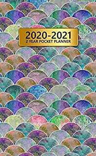 2020-2021 2 Year Pocket Planner: Two-Year Monthly Pocket Planner with Phone Book, Password Log and Notebook. Pretty 24 Mon...