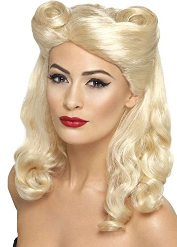 Perruque pin-up annees 40 blonde