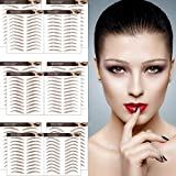 Aresvns 4D Eyebrow Tattoos 132 Pairs! Latest Improved Realistic Brown Eyebrow Tattoos Waterproof,...