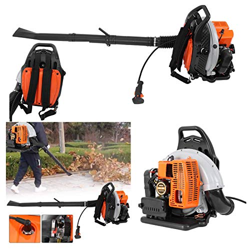 LUKKC Snow Blower 2-Stroke 63cc No-Pull Backpack Gas Powered Leaf Blower - 3Hp High Performance Gasoline Blower for Lawn Care with Vacuum Capability