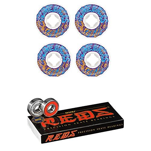 Slime Balls Skateboard Wheels 56mm Vomit Mini 97A White/Blue Bones Reds Bearings