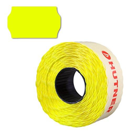 12.000 Preisetiketten 26x16, leucht-gelb, permanent, 10 Rollen a 1.200 Stück, Preisauszeichner Etiketten 26 x 16 | Aufkleber | HUTNER