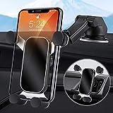車 スマホホルダー スマホスタンド 車載用 2in1 車載ホルダー 吸盤&エアコン口両用 かー 携帯スタンド 重力で自動開閉 伸縮アーム 360度回転 安定性抜群 4.7-7インチ全機種対応 iPhone/Sony/SHARP/Moto/Samsung/Huawei など