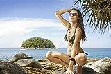 Sexy Frau im Bikini Model Strand XXL Wandbild Kunstdruck