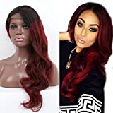Red Lace Front Peluca de pelo pelucas de cabello humano brasileño cuerpo Wave 130denisity para las mujeres negras 12'-24' en stock