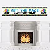 Big Dot of Happiness Set the Pace - Running - Happy Birthday Decorations Party Banner