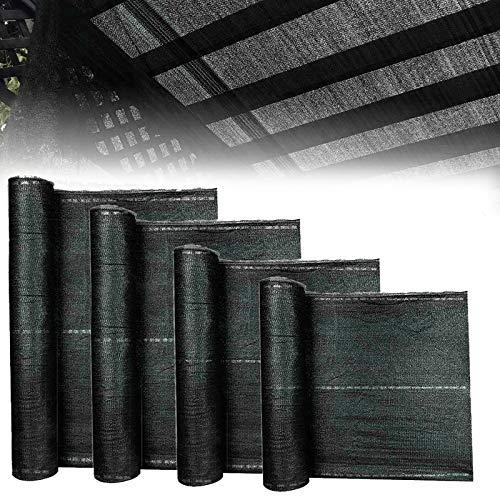 Froadp 10m Anthrazit Balkonumspannungen HDPE Balkon Sichtschutz Zaunblende Schattiernetz Balkonverkleidung Sonnenschutz Tennisblende Netz Windschutz Gewebe mit Kabelbinder(Höhe 100cm)