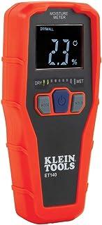 Klein Tools ET140 Pinless Moisture Meter for Non-Destructive  Moisture Detection in..