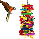 """Extra large with size 18"""", this bird chewing toy is suggested for Macaw, Amazon and African grey cockatoos. This parrot block toy's type is stylish and attractive, which will catch bird's eyes immediately. The hardware part is made of high quality ch..."""