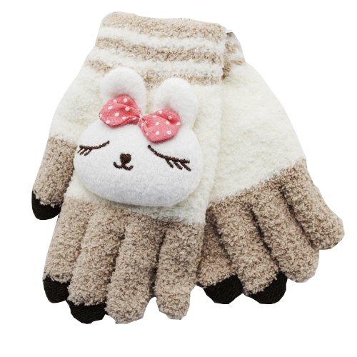 Phonix handschoenen voor touchscreen mobiele telefoon (grootte: klein) lichtbruin