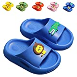 Kids Thickened Shower Sandals, Boys Girls Slides Sandals Non-Slip Slippers Water Shoes for Bathroom Beach Pool(Toddler/Little Kid) ETLT03Blue33