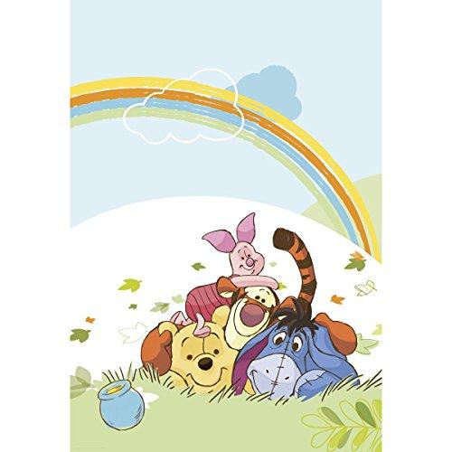 Winnie Pooh Poster bzw. Fototapete von Disney für das Babyzimmer, Kinderzimmer, Tapete, Wanddekoration - 127 x 184 cm, 1 Stück