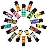 Natrogix Nirvana Therapeutic-Grade Aromatherapy Essential Oil Set - 100% Pure Essential Oils - 18/10ml Incl. Lavender, Peppermint, Tea Tree, Eucalyptus and More w/Free E-Book