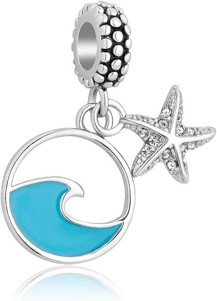 CharmSStory Starfish Dangle Beach Charms Bead fit Charms Bracelets