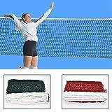 AISE Rete da Badminton Standard, Rete da Badminton Intrecciata con Maglie quadrate da Allenamento Professionale, Rete da pallavolo da Esterno da 6,1 m X 0,76 m Rete da pallavolo per Interni o Esterni