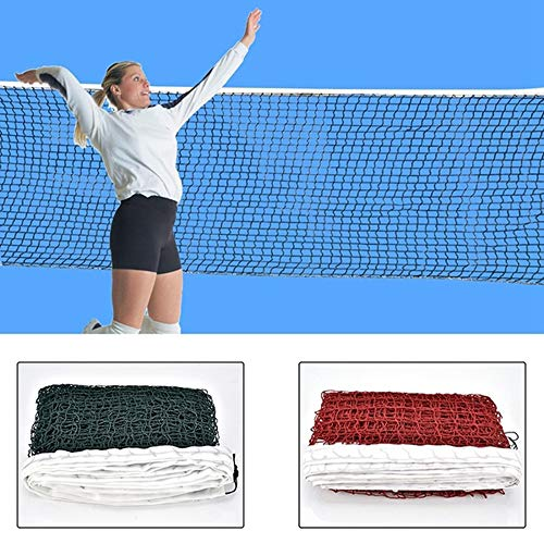 AISE Red de bádminton estándar, Red de bádminton Trenzada de Malla Cuadrada de Entrenamiento Profesional, Red de Tenis de 6,1 mx0,76 m. Red de Malla de Voleibol para Exteriores o Interiores