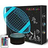 Football 3D Night Light, American Football 3D Illusion Lamp for Kids with Remote 16 Colors Changing, Creative Birthday Rugby Gifts for Boy Girl Bedroom Decoration