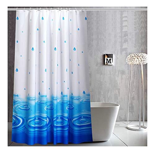 Bishilin Anti-Schimmel Duschvorhang 300x200 Wasser & Wassertropfen Badvorhang Anti-Schimmel