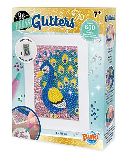 Buki France- Be Teens Glitters-Pavone, Colore, DP012