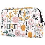 Bolsa de cosméticos para mujer, diseño de flores de primavera, diseño de...