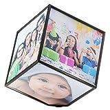 GOODS+GADGETS - Cubo de fotos giratorio para 6 fotos flotantes