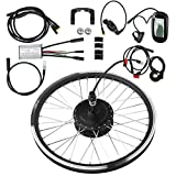 Kit de rueda de bicicleta eléctrica de rueda delantera/trasera de 20' Kit de conversión de bicicleta eléctrica de 36V y 250W, Motor de buje de ciclismo con controlador para bicicleta de carretera(2#)