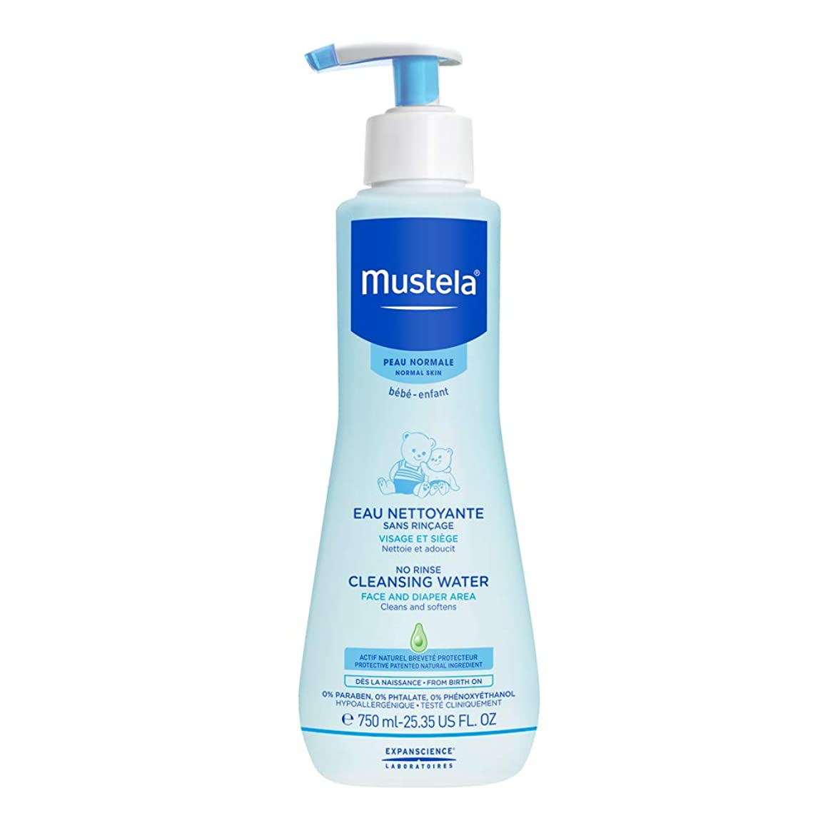 打たれたトラック同化する不規則なムステラ No Rinse Cleansing Water (Face & Diaper Area) - For Normal Skin 750ml/25.35oz並行輸入品
