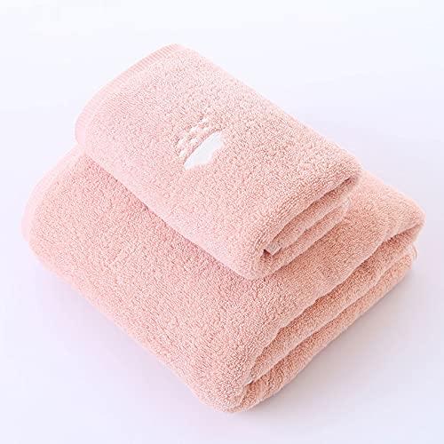 ZJM Juego de Toallas,Toallas de baño,2 Piezas,1 * Toalla + 1 * Toalla de baño,Toallas de Alta absorción,Toallas de baño de algodón,Juego de Toallas de baño