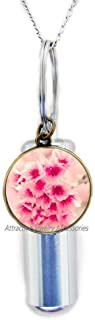 Wklo0avmg Cherry Blossom Cremation Urn Necklace, Cherry Blossom Jewelry, Cherry Blossom Jewellery, Cherry Blossom Gifts, P...
