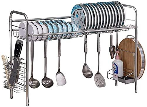 VTAMIN Estante de secado del plato sobre el fregadero, el fregadero Organice el estante del soporte, la rejilla de secado para el plato para la organización de la cocina Almacenamiento del espacio del
