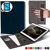 Forefront Cases Huawei MediaPad M2 10.0 Hülle Schutzhülle Tasche Smart Case Cover mit Handschlaufe - Extra Robust R&um-Geräteschutz - Smart Auto Schlaf Wach + Stift und Bildschirmschutz (DUNKEL BLAU)
