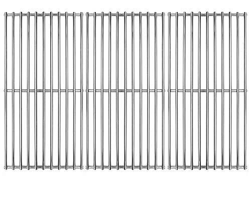 Hongso 16 7/8' Stainless Steel Cooking Grill Grates Replacement for Charbroil 463420509 463420508 463436214 463436215 463440109, g432-4300-01 Master Chef 85-3100-2 85-3101-0 Thermos 461442114 SCH763