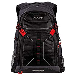 This fishing backpack photo shows the Plano E-Series 3600 Tackle Backpack.
