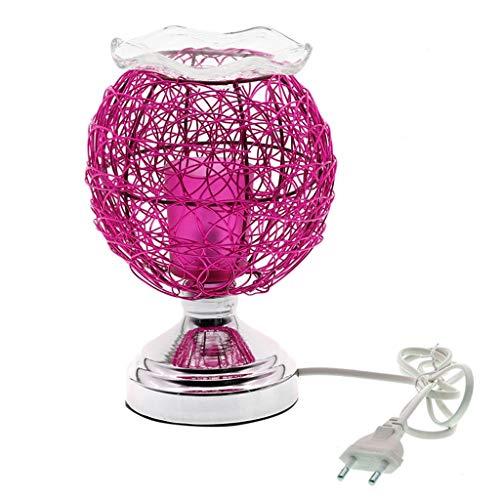 Tischleuchte Dimmbare Aroma Nest Tischlampe 220V Elektrischer Duft Ätherisches Öl-Lampen-Air Aroma Diffuser Nachtlicht Weihnachtsdeko (Color : Purple)