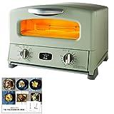 アラジン グリル & トースター AGT-G13AG + THE TOASTER RECIPE BOOK トースターレシピブック 2点セット (グリーン, 4枚焼き)