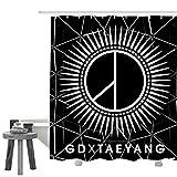 XinGanXian007 G Dragon X Tae-Yang Logo Home Shower/Bath Curtain Waterproof Bathroom Curtain 60 X 72 Inch