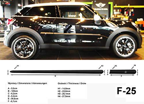 Spangenberg Barres de protection latérales noires pour Mini Paceman R61 SUV-Coupé à partir de 03.2012 - F25 (370002506)
