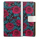 DeinDesign Étui Compatible avec Sony Xperia XZ1 Compact Étui Folio Étui magnétique Roses...