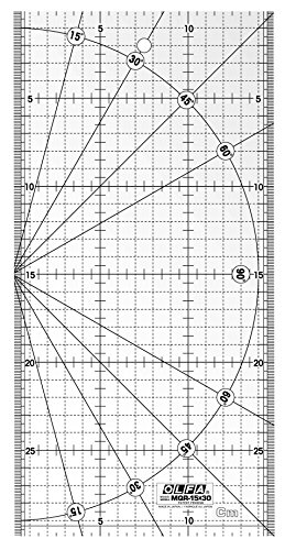 Olfa mqr-30de 15x 30–Regla para Patchwork (, 15x 30cm, 6x 12Inch