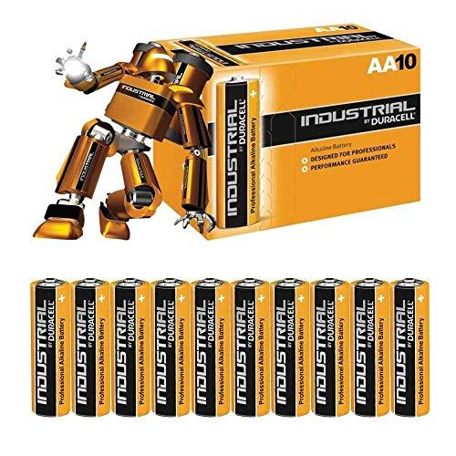 Duracell LR6 - Batteria Industriale Alcalina Mignon, AA 1.5V 2.7Ah, Confezione da 10
