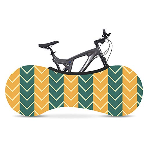 Bike Cover XYBB Corrugated Series Bicycle Cover Environmental Protection Milk Silk Fabric Indoor Bike Tire Dust Cover 160 * 55cm 8