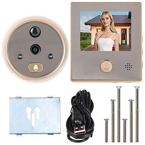 Rosvola Timbre de Video de la cámara, Timbre de Video ampliamente Utilizado, Visor de Mirilla, Timbre de Video, Aspecto Hermoso, detección de Movimiento para el hogar