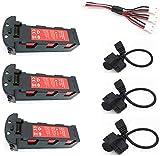 11.4v 4200mAh ensemble de chargeur de batterie pour Hubsan H117S Zino GPS RC caméra Drones quadrirotor pièces de rechange batterie 11.4V 3 pièces