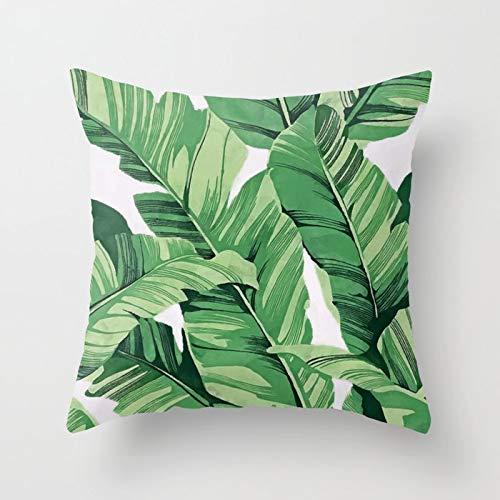 PPMP INS Tropical Leaves Throw Kissenbezug Girl Tiger Leaves Kissenbezüge für Home Sofa Chair Dekorative Kissenbezüge A5 45x45cm 2pc